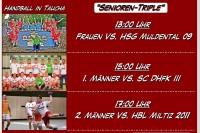 3. Heimspieltag (27.09.2015): 1.+2. Männer & Frauen am Sonntag in der MZH Taucha