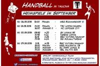 Handball-Heimspiele im September – Übersicht