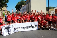 Tauchscher 2015: Handballer beim Festumzug