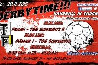 8. Heimspieltag, Sonntag – 29.11.2015: 2 Derbys, 2x Tsg gg. Tsg, 2x Taucha gg. Schkeuditz; 2. Männer gg. Spitzenreiter Böhlen